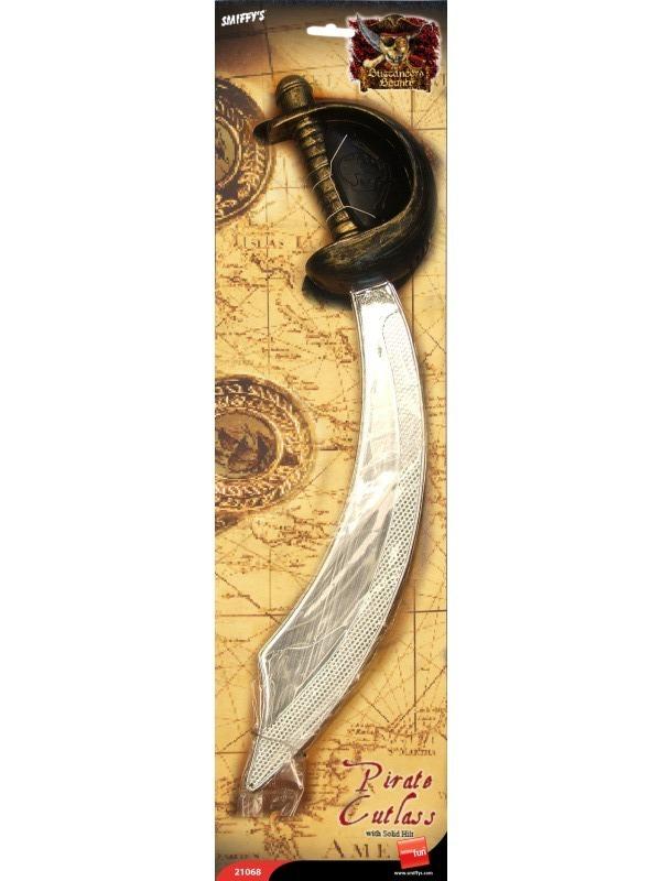 Piráti - Pirátská šavle stříbrná 46 cm