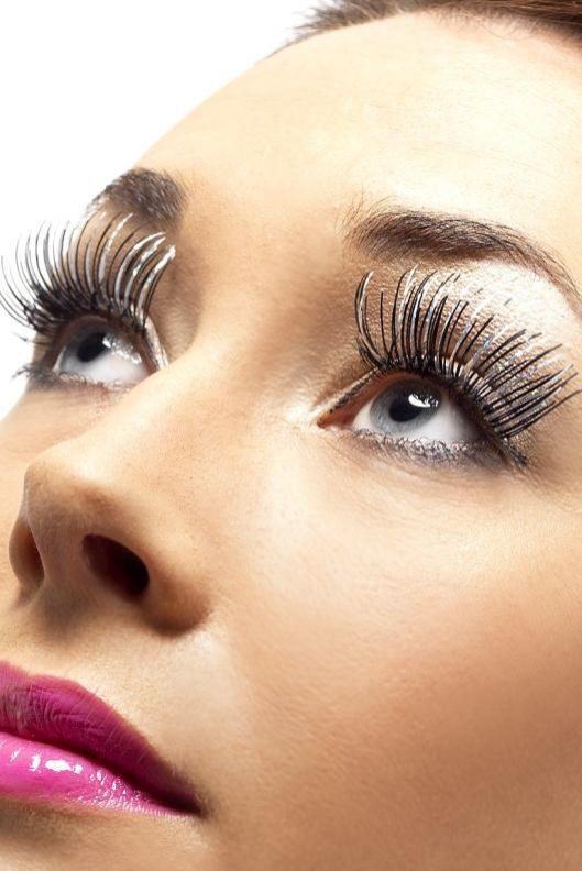 Líčidla a kosmetika - Řasy stříbrné/černé