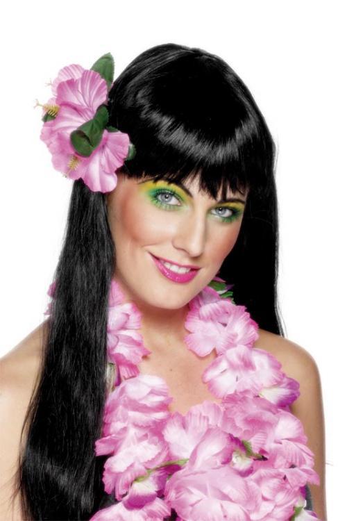 Havajská párty - Havajské kvítko do vlasů růžové