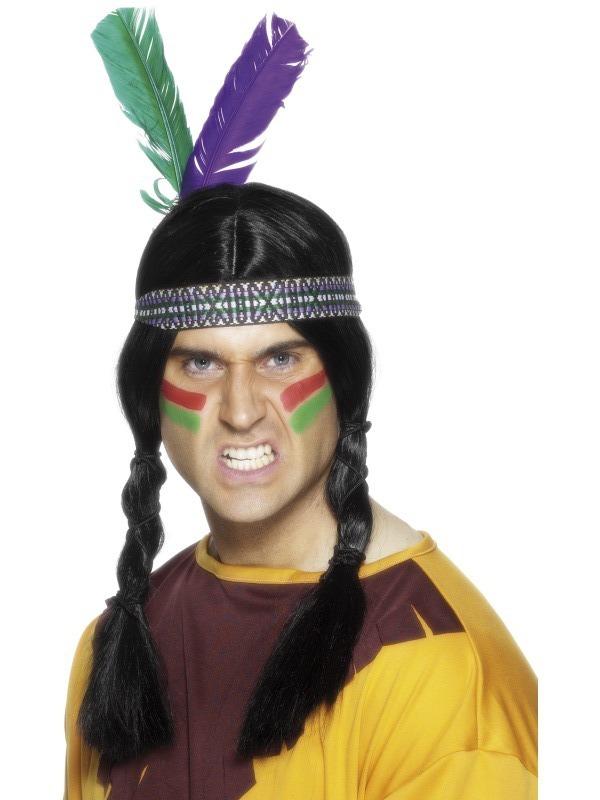Indiáni - Indiánská čelenka se 2 pery