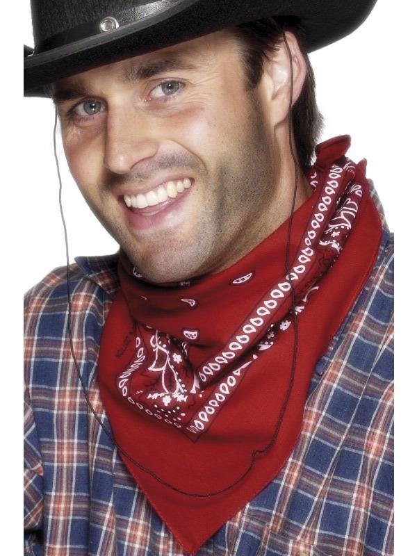 Kovbojové - Šátek na krk western červený