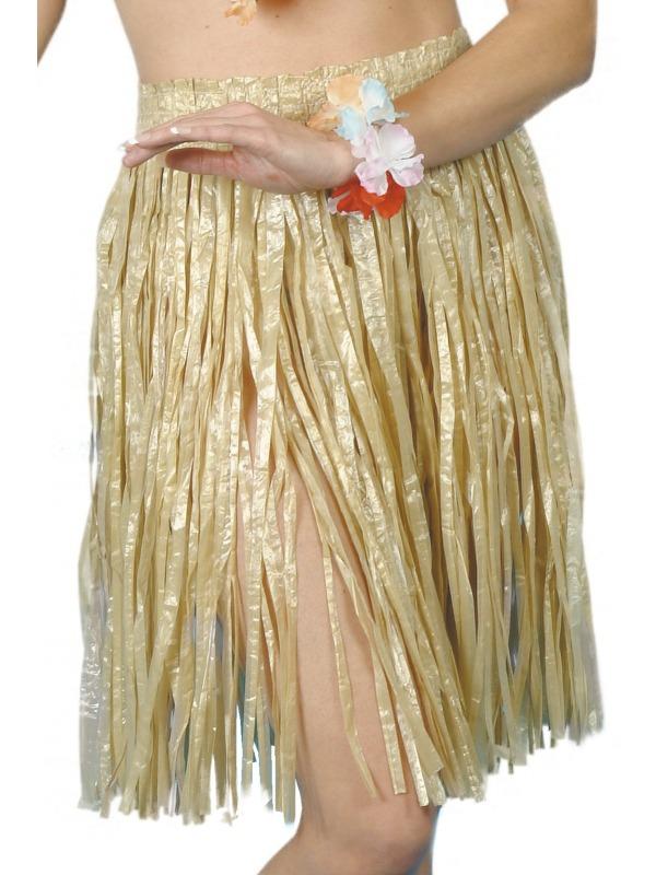 Havajská párty - Havajská sukně přírodní  56 cm