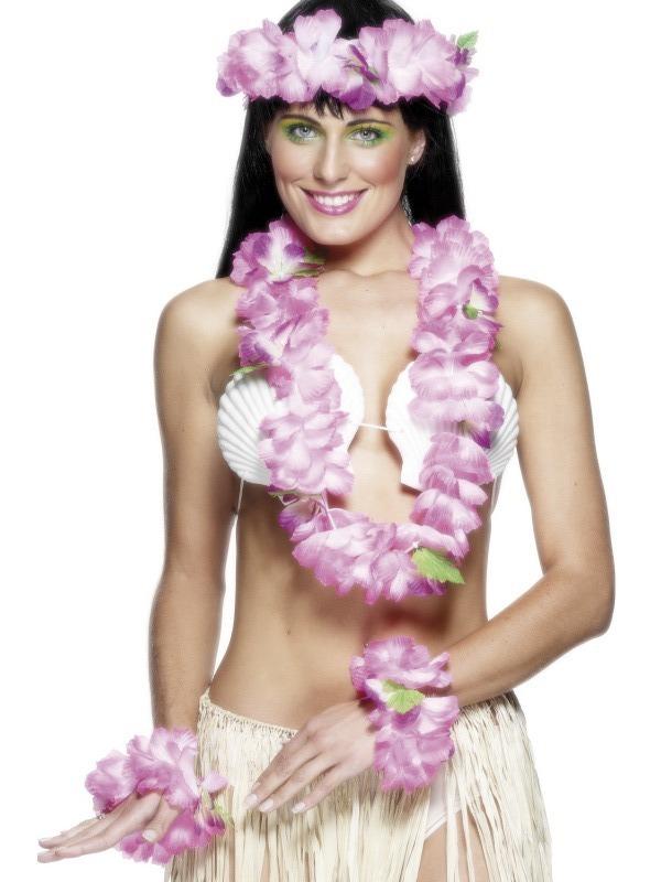 Havajská párty - Havajská sada růžová