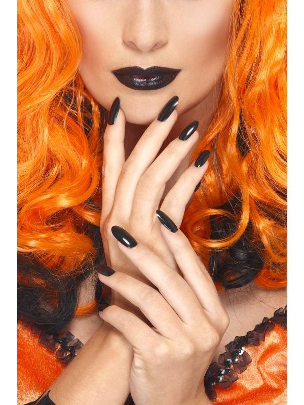 Líčidla a kosmetika - Černý lak na nehty a rtěnka