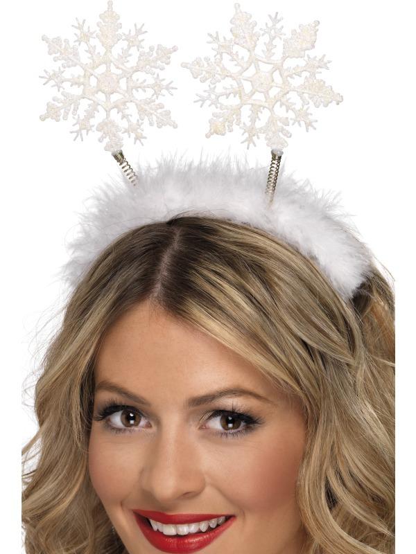 Klobouky-čepice-čelenky - Čelenka s tykadly sněhové vločky