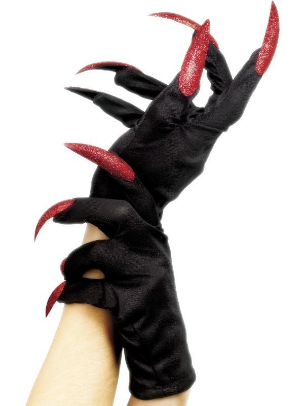 Mikuláš - Čert - Anděl - Rukavice červené nehty