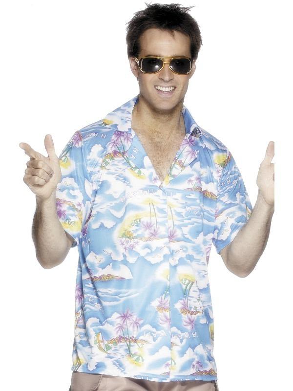 Havajská párty - Havajská košile modrá