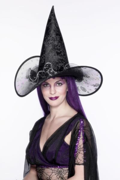 fd788227f95 Klobouk Čarodějnice elegantní - Levný karneval