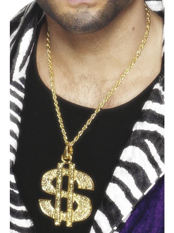 Karnevalové doplňky - Medailon Dolar zlatý