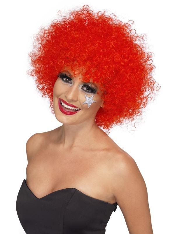 Klauni - Paruka Funky Afro červená