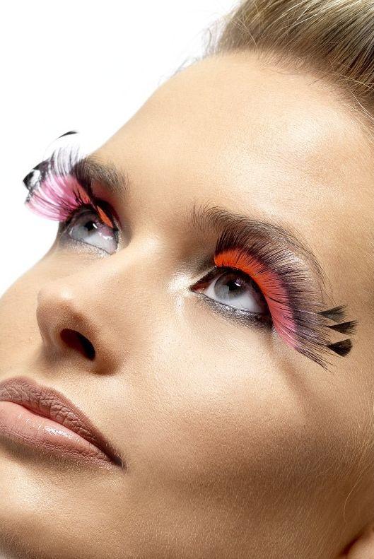 Líčidla a kosmetika - Řasy Černé/růžové s peřím
