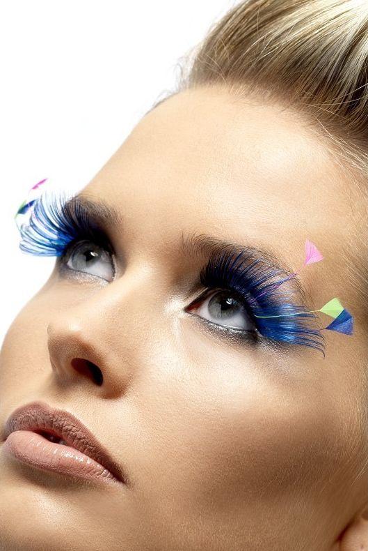 Líčidla a kosmetika - Řasy Černé/modré s peřím