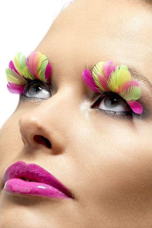 Líčidla a kosmetika - Řasy Neonové peří