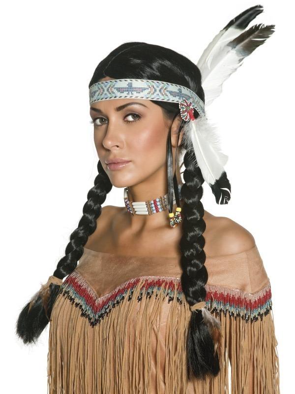 Paruky - indiánská dámská paruka