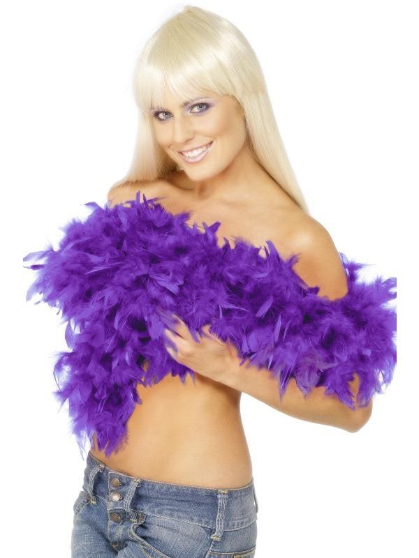 Karnevalové doplňky - Boa fialové 180 cm 80 g/m