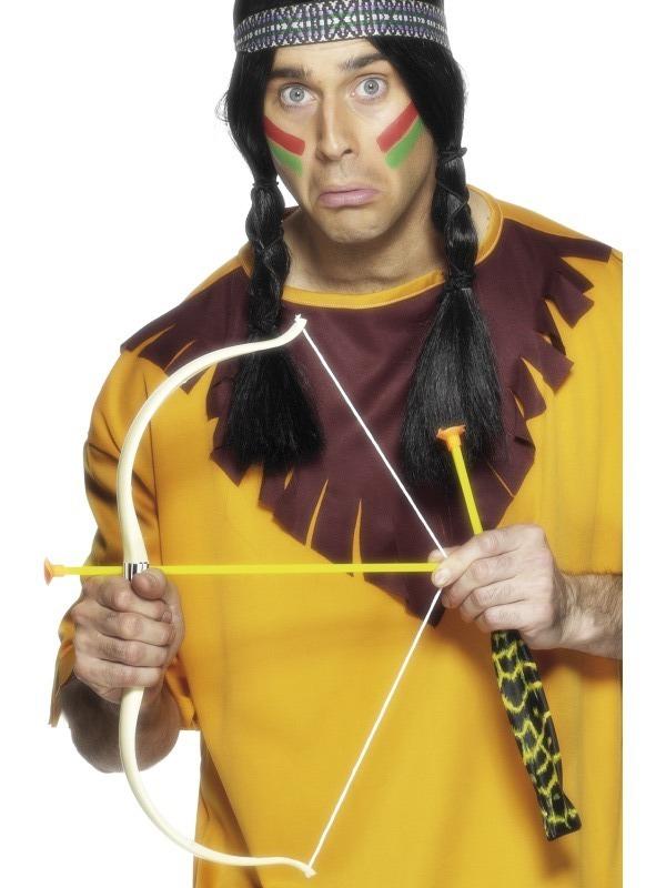 Karnevalové doplňky - Indiánský luk 54 cm se 3 šípy