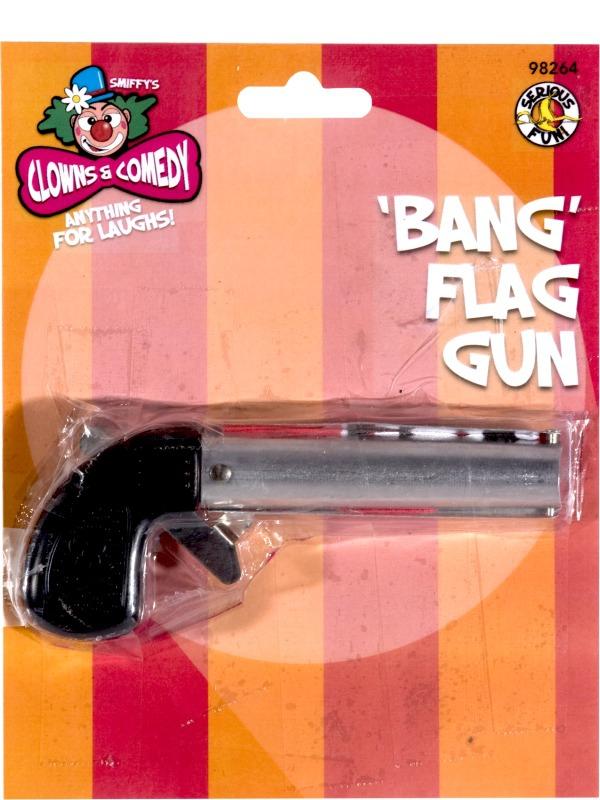 Karnevalové doplňky - Pistole s vlaječkou