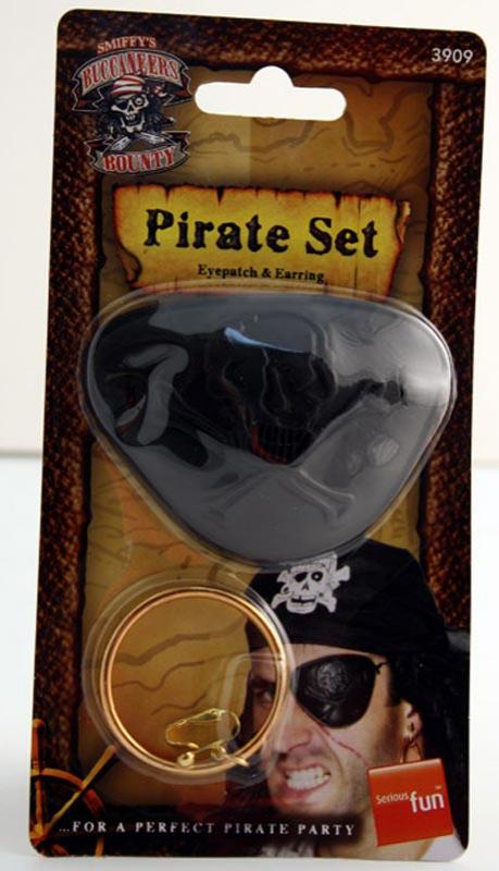 Piráti - Pirátská záslepka a náušnice