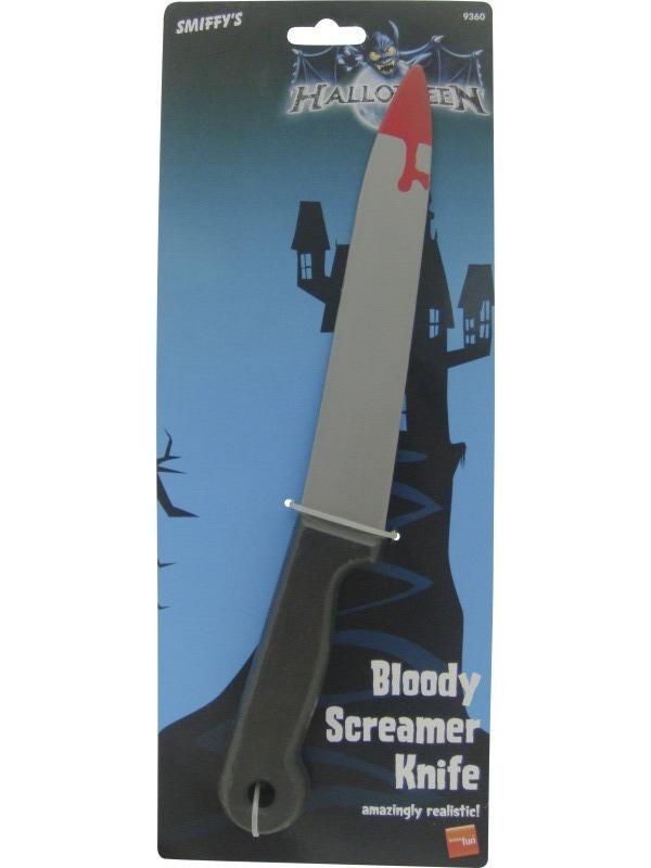 Karnevalové doplňky - Krvavý nůž 30 cm