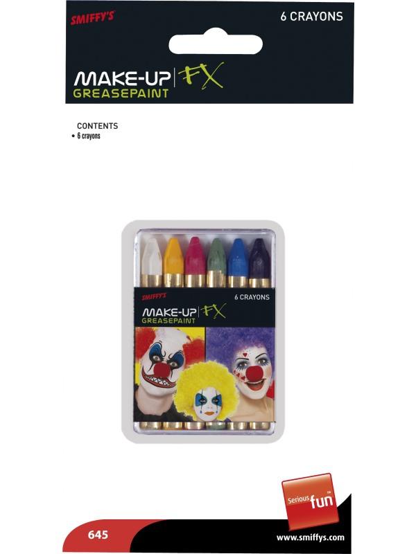 Líčidla a kosmetika - Pastelky na obličej 6 barev