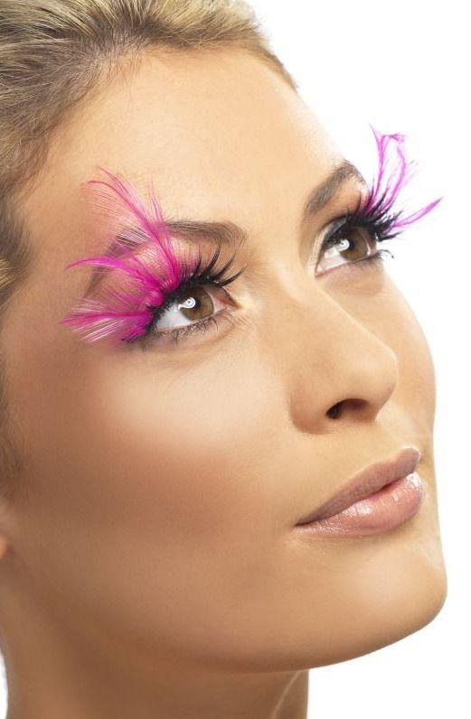 Líčidla a kosmetika - Řasy Černé s růžovým peřím