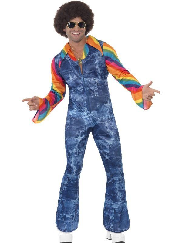 Hippie - Kostým Groovy Dancer riflový efekt