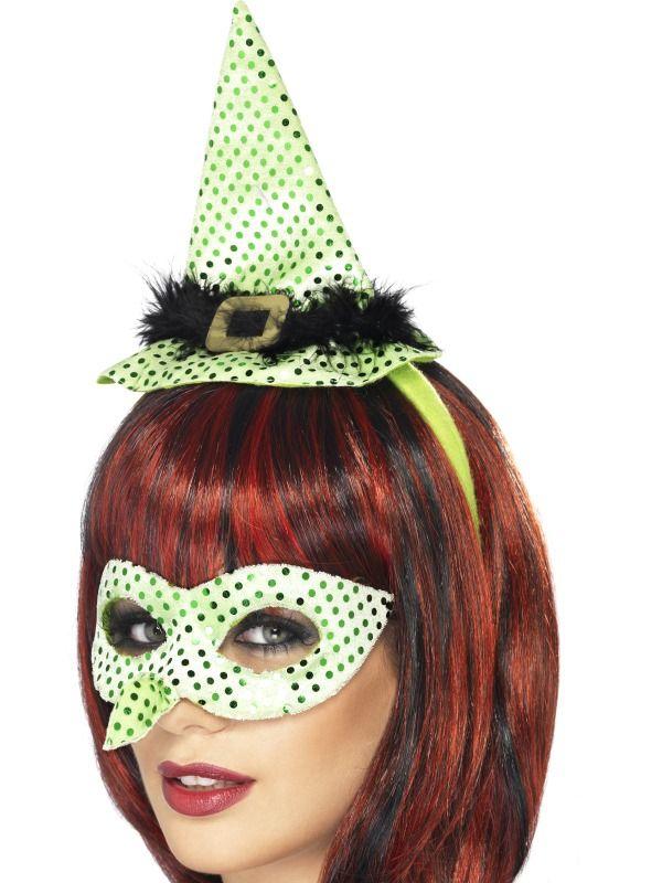 Masky - Klobouk a škraboška Čarodějnice