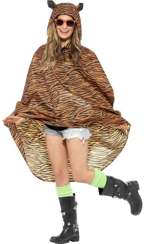 Karnevalové doplňky - Dámská pláštěnka Tygr