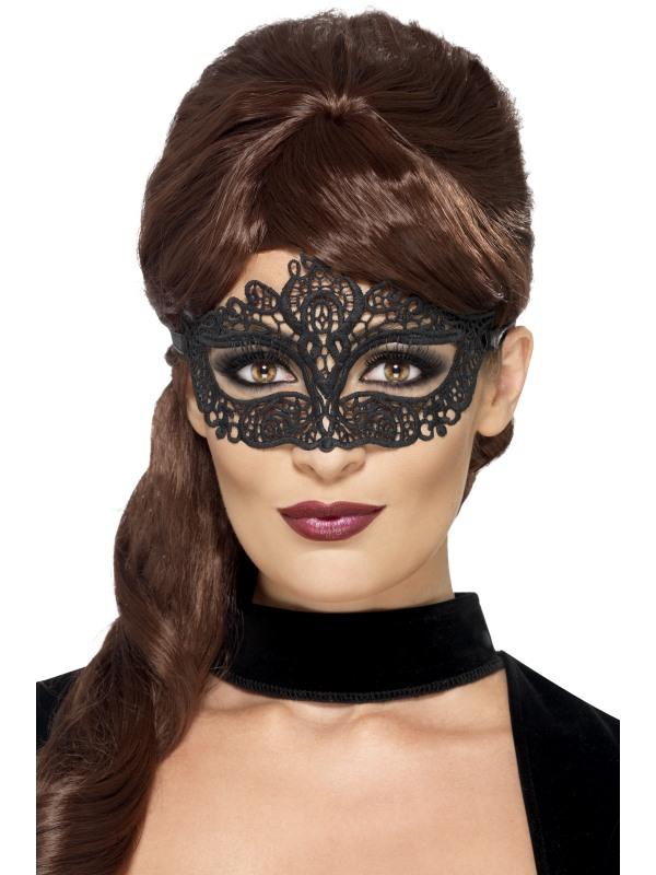 Masky - Škraboška síťovaná černá