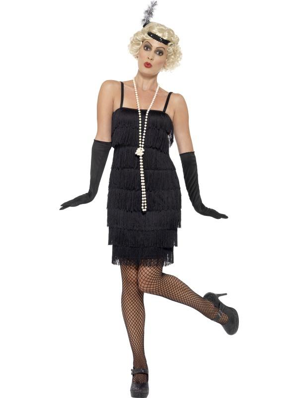 Kostýmy - Kostým Flapper krátké šaty černé ve stylu charleston