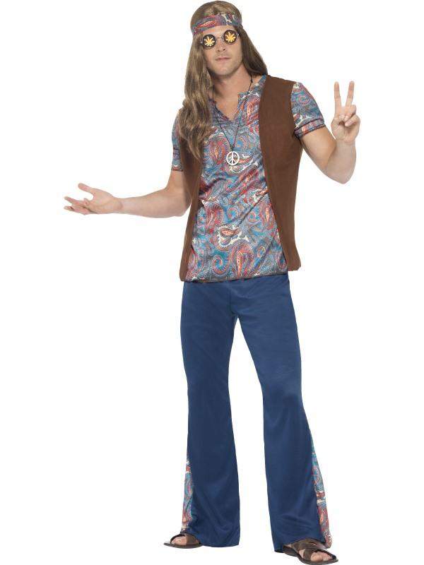 Hippie - Pánský kostým Hippiesák