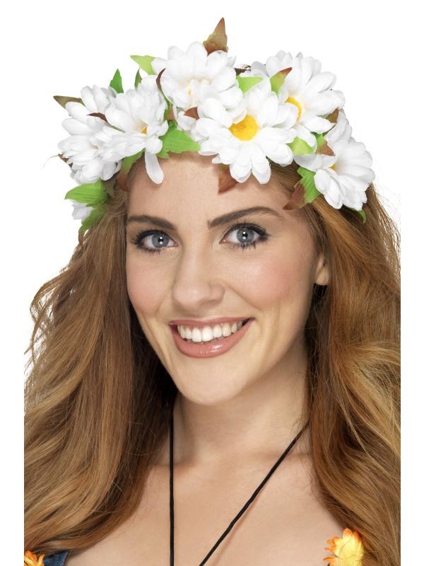 Karnevalové doplňky - Čelenka s květinami