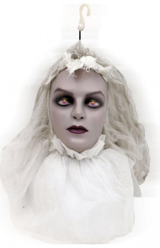 Karnevalové doplňky - Strašidlo hlava nevěsty