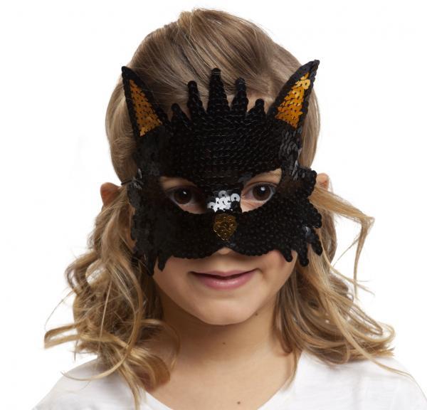 Masky - Škraboška dětská kočka