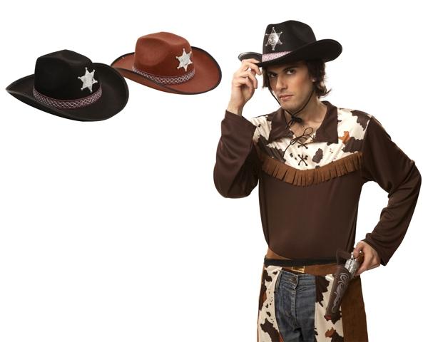 Klobouky-čepice-čelenky - Klobouk Sherif černý