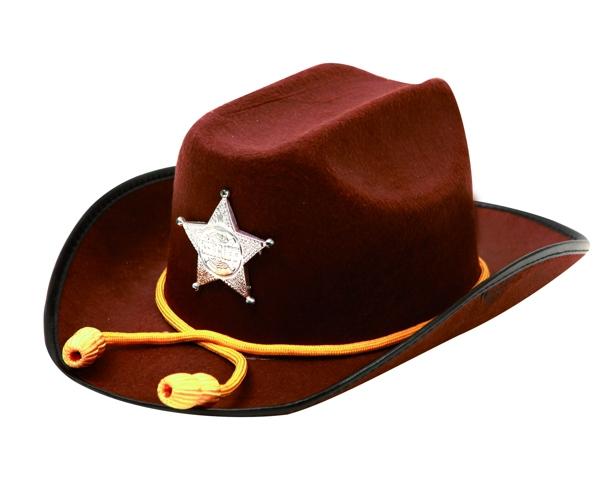 Klobouky-čepice-čelenky - Klobouk Sheriff se šňůrkou