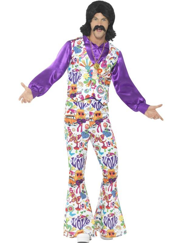 Hippie - Pánský kostým Hippie