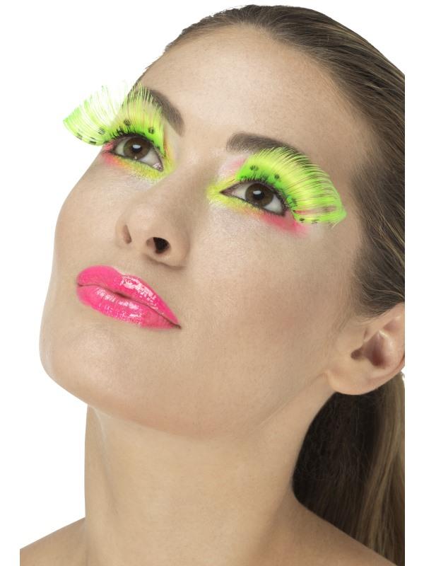 Líčidla a kosmetika - Řasy Polka Dot neonové zelené