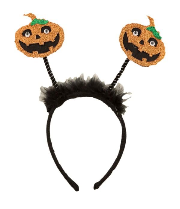 Halloween, strašidelné kostýmy - Čelenka Halloween dýně