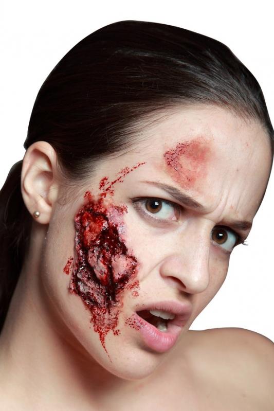 Karnevalové doplňky - Zranění Roztržená tvář
