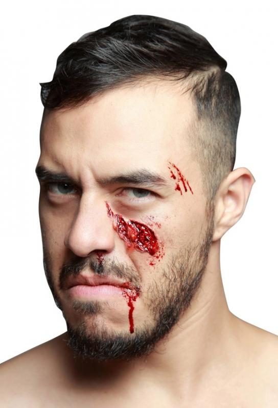 Karnevalové doplňky - imitace zranění obličeje
