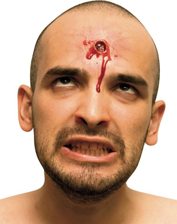 Karnevalové doplňky - Zranění Kulka v hlavě