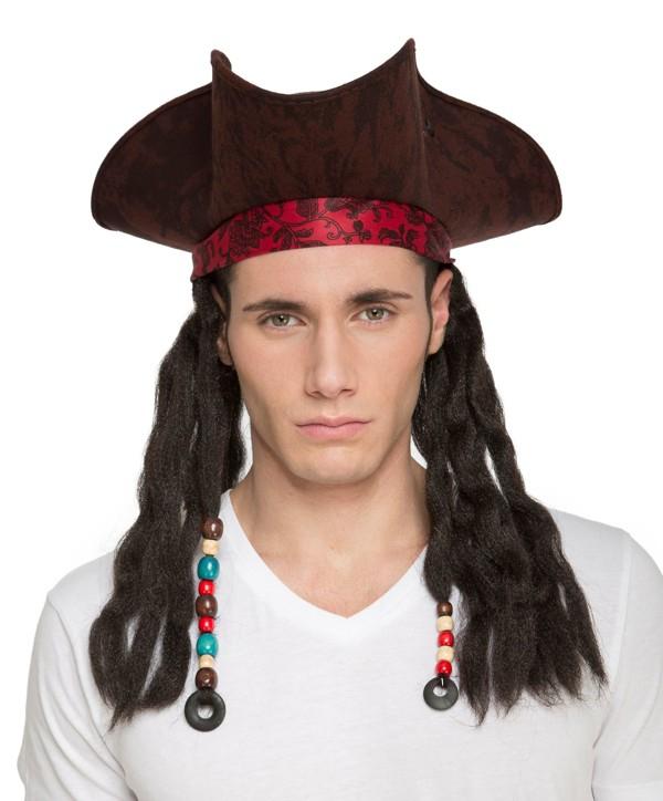 Klobouky-čepice-čelenky - Klobouk Pirát s dredy