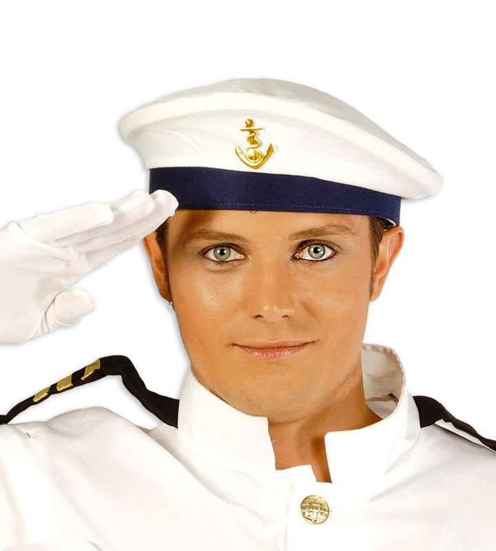 Klobouky-čepice-čelenky - námořnická čepice