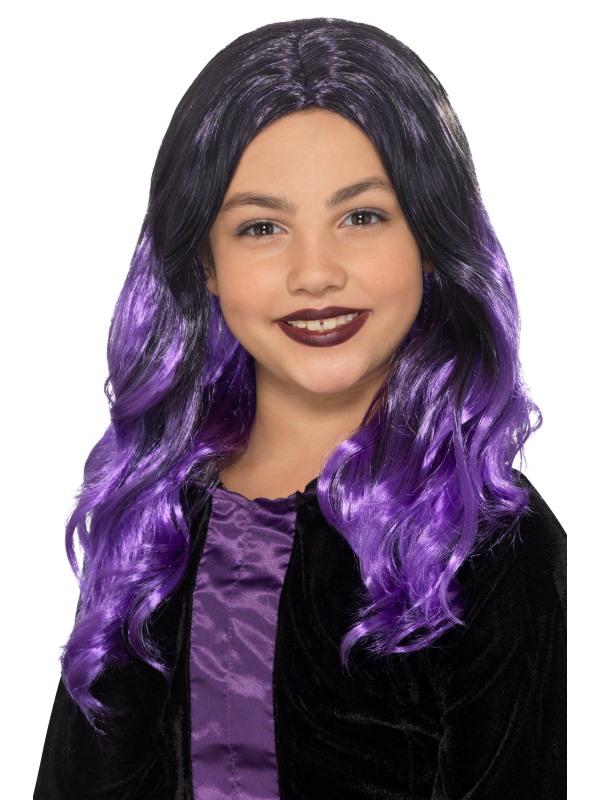 Paruky - Dětská paruka Čarodějnice fialová