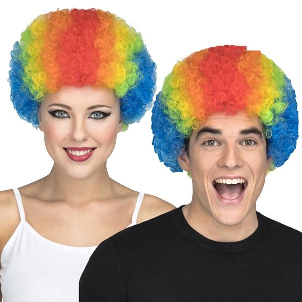 Klauni - Paruka Kudrnatá barevná pro dospělé