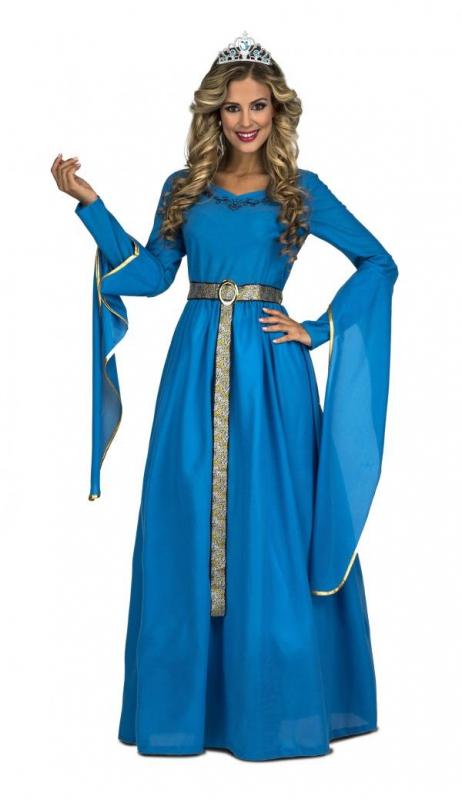 Princezny-Víly - Dámský kostým Středověká princezna modrá