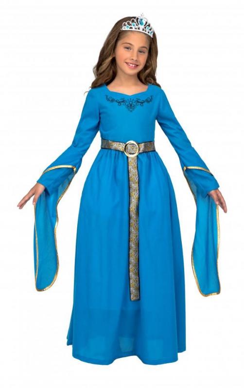 Princezny-Víly - Dětský kostým Středověká princezna modrá