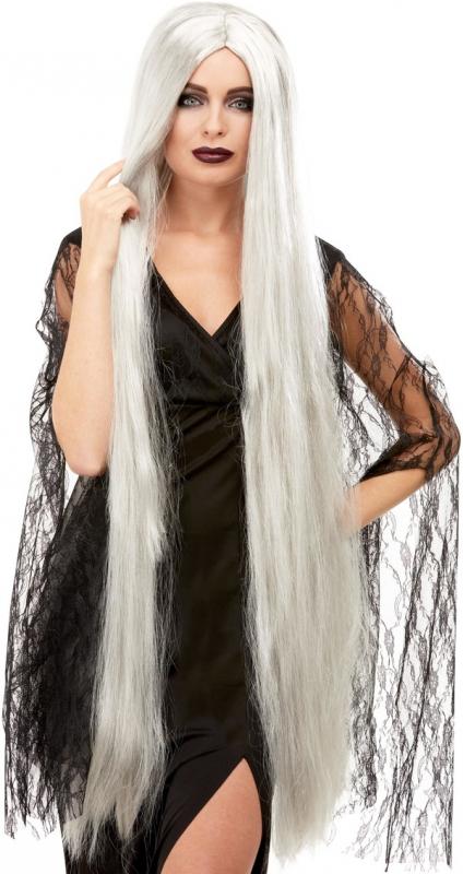 Paruky - Paruka Halloween šedá 120 cm