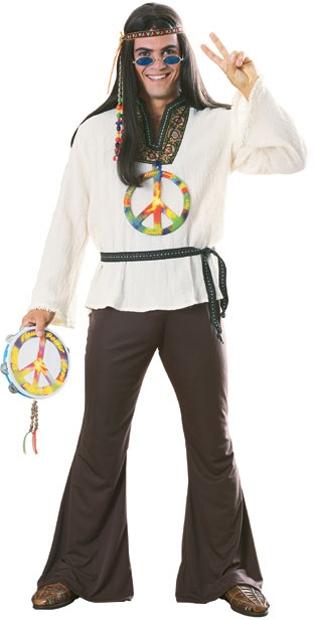 Hippie - Pánský kostým Groovin Man
